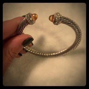 Jewelry - Amber/CZ Yurman-like cable bracelet!